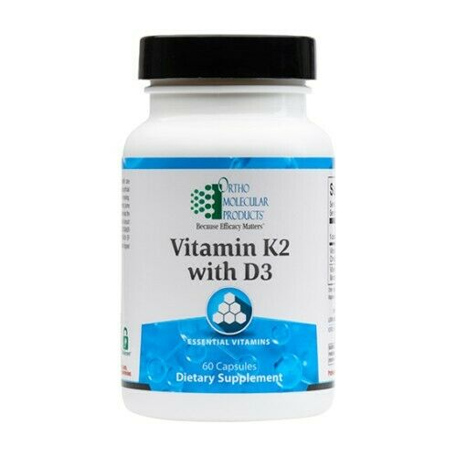 Ortho Molecular Vitamin K2 with D3 60 Capsules Exp. 4/22