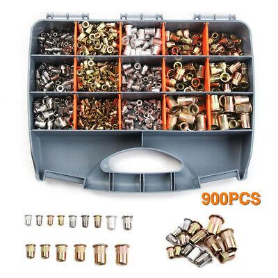 900pcsbox M3-m10 Nutsert Kit Rivnut Stainless Steel Rivet Nut Insert Nutserts
