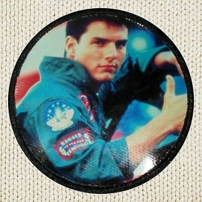 ch Picture Embroidered Border Tom Cruise Navy Iceman Goose (Maverick Top Gun Patches)