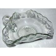 Pressed Glass Relish Dish