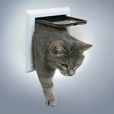 Katzenklappe 2-Wege Klappe Freilauftür Katzentüren Haustierklappe Tür Katze