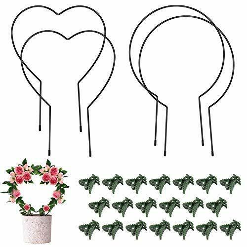 24 Pieces Plant Trellis Kits - 4 Iron Garden Trellis for Climbing Plants,
