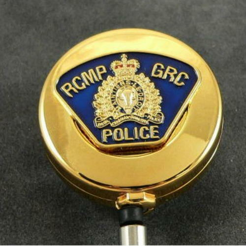 RCMP Canadian Mounted Police Patch Retractable Badge Reel Security Card Holder