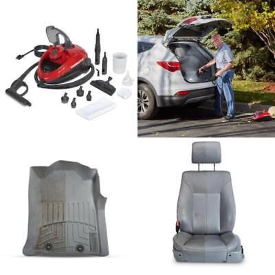 Steam Cleaner Machine Red Multi-Purpose for Cleaning Car Veh