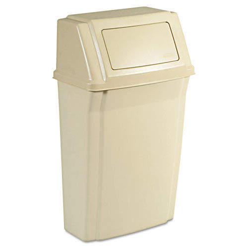 Rubbermaid 15 Gal. Wall-Mounted Slim Jim Container (Beige) 7822BEI NEW