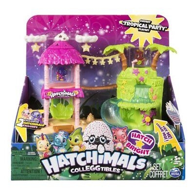 GIOCO PLAYSET HATCHIMALS TROPICAL PARTY LUCI E SUONI SPIN MASTER COLLEGGTIBLES