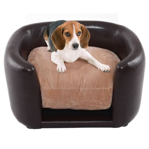 Tremendous Details About Soft Pet Dog Cat Bed Sofa Pvc Upholstered Wood Frame High Bolster Cushion Cover Inzonedesignstudio Interior Chair Design Inzonedesignstudiocom