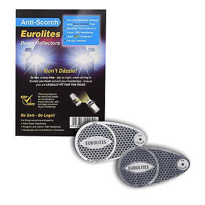 Anti-Scorch Euro Headlamp Adaptors Beam Deflectors Head Light Convertors