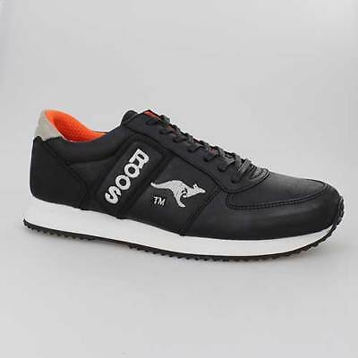 KANGAROOS SCHUHE COMBAT ECO BLACK SCHWARZ LEDER (Combat Schuhe Für Männer)