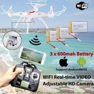 NEW X5C-1 X5SW 6Axi Wifi 3×Battery 2MP HD Camera Drone Quadcopter
