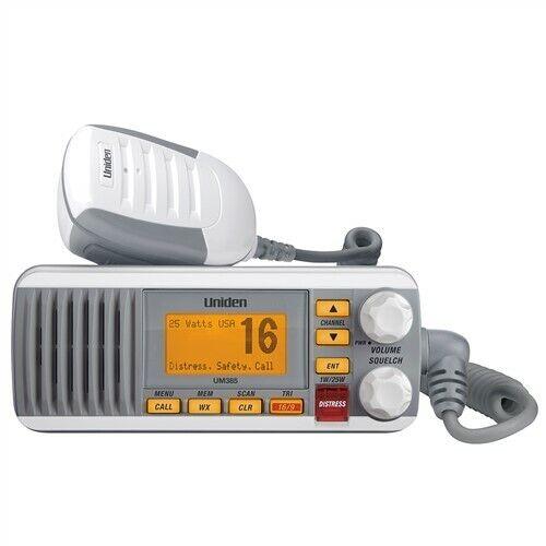 Uniden UM385 White VHF Class D DSC 25 Watt