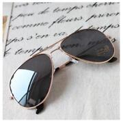 Womens Gold Aviator Sunglasses