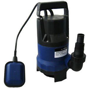 400W ELECTRIC SUBMERSIBLE DIRTY WATER PUMP SPA FLOOD 7500 LITRE / HOUR POND POOL