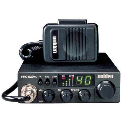 Uniden PRO520XL 40-Channel 4-Watt Compact CB Radio and Tram