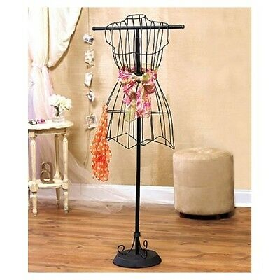$36.88 - Vintage Dress Form Metal Wire Mannequin Decorative Boutique Stand Sewing Form