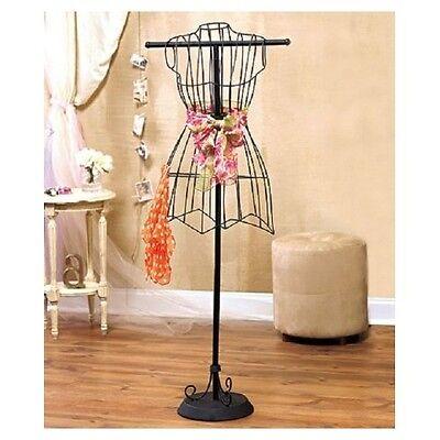 $36.88 - Vintage Dress Form Metal Wire Mannequin Decorative Boutique Stand Sewing Form