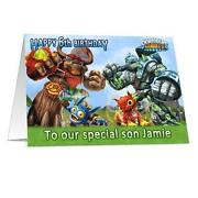 Skylanders Birthday Card
