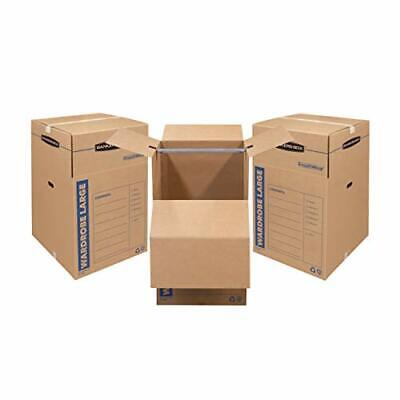 Bankers Box Smoothmove Wardrobe Moving Boxes Tall 24x24x40 3 Pack 7711001