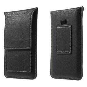 universal mobile phone vertical leather belt loop card