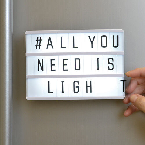 Details About Fridge Magnet Magnetic Light Box Fun Kitchen Message Board Stocking Filler Gift