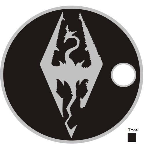 Skyrim Video Game Dragon Pathtag Coin X-Box Play Station Geocoin Geocache Metal
