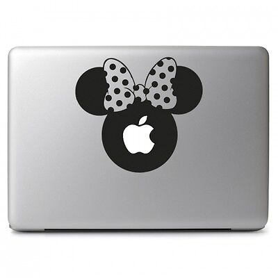 """Large Minnie Mouse Head Decal Sticker for Macbook Air Pro 13 15 17"""" Laptop Car"""