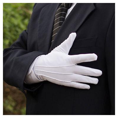 Men's White Tuxedo Parade Santa Magic Band inspection Guard Uniform Tux gloves - Santa Uniform
