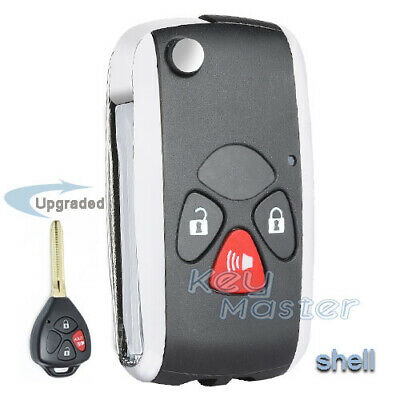 6 Button Leather Car Remote Key Cover Case Fob for Toyota Sienna 1998-2018