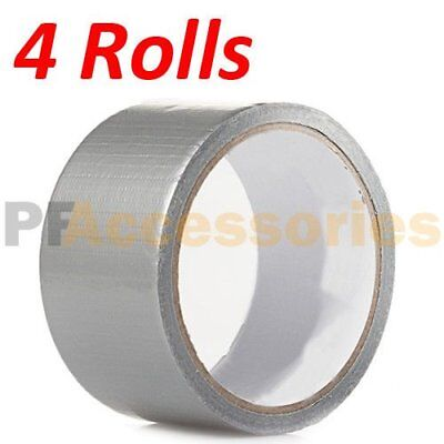 4 Rolls 30 Ft X 1.88 Industrial Utility Craft Hardware Duct Tape Silver Lot 4
