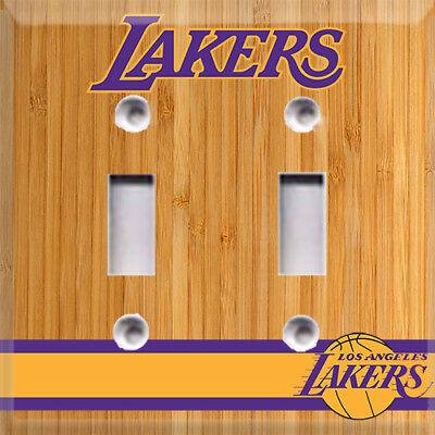 Basketball LA Lakers Light Switch Cover Choose Your Cover](Basketball Light)