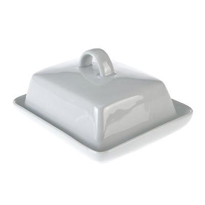 Butterdose Porzellan weiß Küchendose Dose Butter