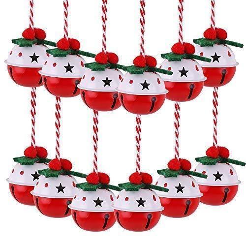 12Pcs+Christmas+Jingle+Bells%2C+2%22%2F5cm+Metal+Christmas+Pendants+with+Dots+Pattern