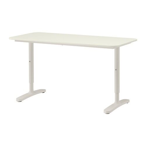 ikea office furniture standing desk table cable trunking included hacks