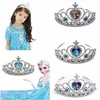 Girls Frozen Princess Figures Cosplay Costume Crown Tiara Headband Toy Xmas Gift - Tiara Toys