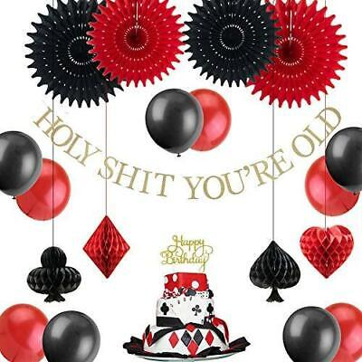Vegas Theme Parties (Easy Joy Las Vegas Casino Themed Birthday Party Decoration Poker Happy)