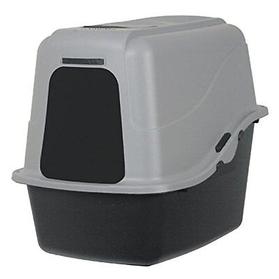 Cat Litter Box, Petmate Hooded Litter Pan Set Large Black/Gray, FREE FAST SHIP