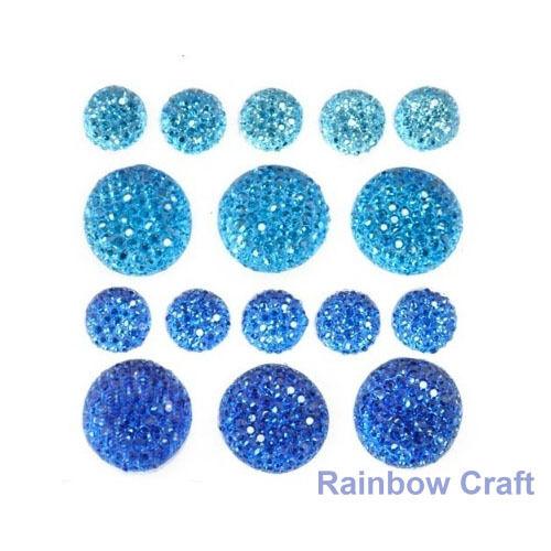 kaisercraft Bling Sparklets / Self Adhesive Rhinestones crystal ebony hearts - Royal