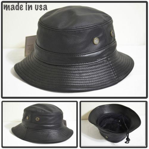Leather Bucket Hat | eBay