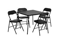 Quin Metal Folding Table & 4 Folding Chairs