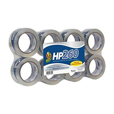 NEW Duck HP260 Packing Tape Refill 8 Rolls 1.88 Inch x 60 Yard Clear 1067839