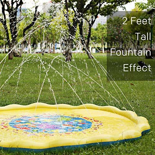 Water Splash Mat Outdoor Sprinkler Pad Big Summer Toy Spraying Games for Kids