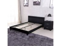 Faux Leather Large single/Double Bed