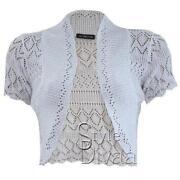 White Short Sleeve Cardigan