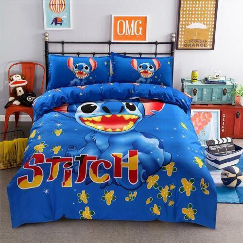 Stitch bedclothes covers Queen Bed Sheet Bedding/Set cartoon