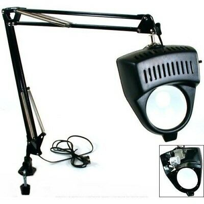 EDM - Clamp on Swing Arm Lighted Magnifying Lamp for Hobby, Work Desk, or Table Swing Arm Work Light