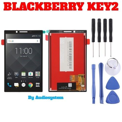 DISPLAY LCD+TOUCH SCREEN BLACKBERRY KEY2 KEYTWO KEYONE2 BBF100-1 +ATTREZZI VETRO