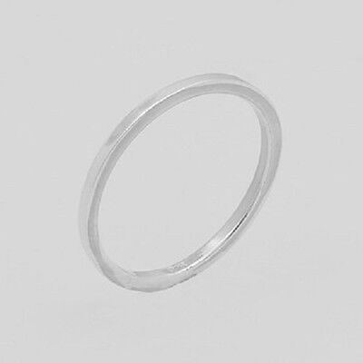 Silver ring stackable design 925 sterling plain stack ring size 11.5us1.5mm wide