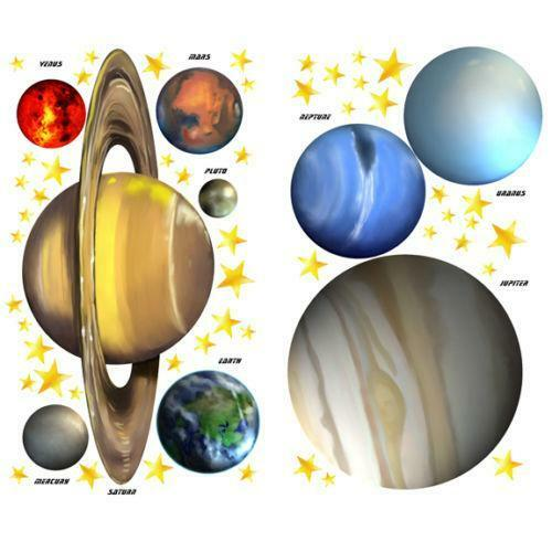 Solar System Wall Decals | eBay