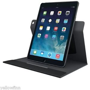 NEW Logitech Apple iPad AIR 1 360 Rotating Turnaround Case Cover Stand Black