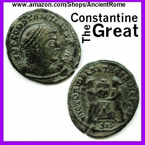 Constantine the Great - Imperial Roman Empire Bronze Coin with Certificate of...